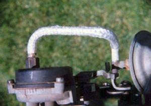Typical choke stove installation for carburetors